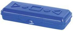 Пенал пластиковый ПИФАГОР однотонный, ассорти 4 цвета, 20х7х4 см, 228114