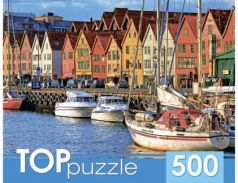 ПАЗЛЫ 500 элементов. Яркие домики у воды 185 x 150 x 65