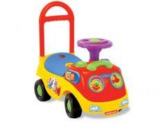 Каталка-машинка Kiddieland Забавное катание пластик от 1 года с ручкой для родителей разноцветный KID 032474