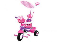 Велосипед трехколёсный Kiddieland Минни Маус с ручкой розовый KID 048983