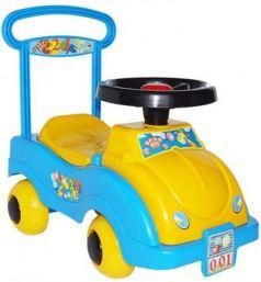 Каталка-машинка Совтехстром Автомобиль №1 пластик от 1 года желтый /голубой У438