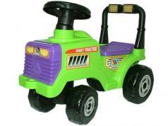 Каталка-машинка Molto Трактор Митя пластик от 1 года с гудком зеленый 7956