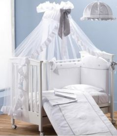 Балдахин на кроватку Erbesi Cuori (белый)