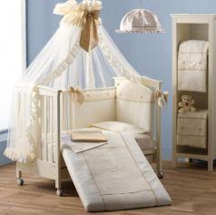 Балдахин на кроватку Erbesi Cuori (слоновая кость)