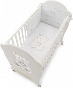 Комплект постельного белья 3 предмета Erbesi Tiffany (белый)