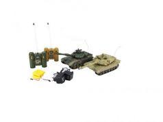 Танковый бой на радиоуправлении Пламенный Мотор Т-90 (Россия) - Abrams M1A2 (США) 1:28 от 6 лет пластик 870165