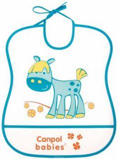 Нагрудник Canpol пластиковый мягкий 2/919 голубой