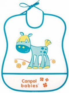 Нагрудник Canpol пластиковый мягкий 2/919 синий