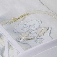 Набор в люльку для двойни Feretti Baby Beddings Culla Gemelli Doppio Nido Enchant (ivory)
