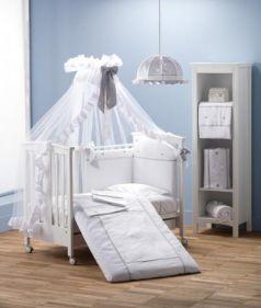 Комплект постельного белья 3 предмета Erbesi Cuori (белый)