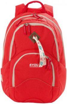Рюкзак с анатомической спинкой 4YOU Flow Коралл 26 л 141000-236