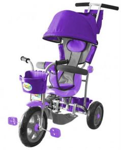 Велосипед трехколёсный R-Toys Galaxy Лучик с капюшоном фиолетовый 5598/Л001