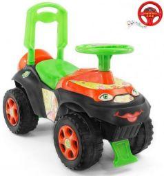 Каталка-машинка Rich Toys Автошка Винкс пластик от 2 лет музыкальная зелено-оранжевая 013117/01К