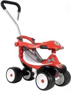 Каталка-машинка Coloma Квадрик Formula 2 пластик от 6 месяцев с ручкой для родителей красный 46314