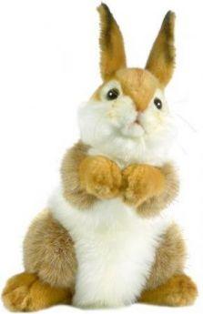 Мягкая игрушка кролик Hansa 3316 30 см коричневый искусственный мех