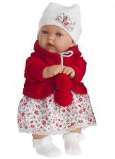 Кукла Munecas Antonio Juan Азалия в красном 27 см со звуком 1220R