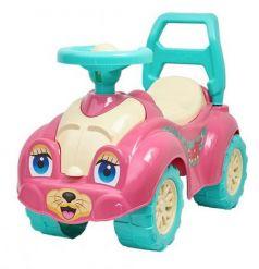 Каталка-машинка R-Toys Zoo Animal Planet Кошка пластик от 8 месяцев с гудком розовый Т0823