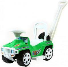 Каталка-машинка Rich Toys Mini Formula 1 пластик от 10 месяцев с ручкой для родителей зеленый ОР856