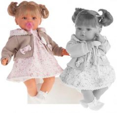 Кукла Munecas Antonio Juan Каталина в бежевом 42 см плачущая 1668W