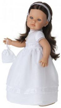Кукла Munecas Antonio Juan Белла Первое причастие, брюнетка в кремовом 45 см 2800BR