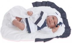 Кукла Munecas Antonio Juan Рамон в синем 40 см со звуком 3360B