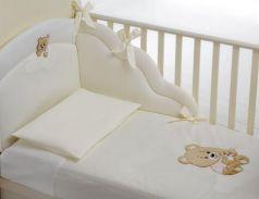 Постельный сет 4 предмета Baby Expert Abbracci (пододеяльник, бампер, одеяло и наволочка/крем)