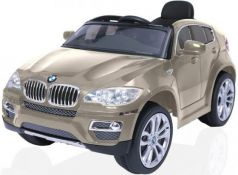 Электромобиль RT на 4-х колесах BMW X6 12V R/C champagne 258