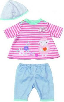 Одежда для кукол Zapf Creation My first Baby Annabel 36 см 794371 бело-розовая полоска