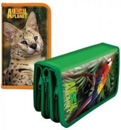 Пенал на три отделения Action! Animal Planet AP-PC03-02 в ассортименте