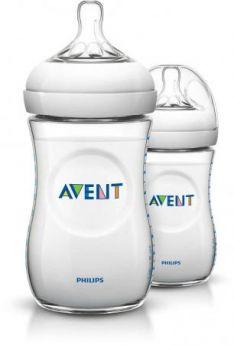 Бутылочка Avent Natural Pp, 260 мл, сил. соска, медл. поток, 2 шт. арт. 86595