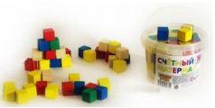 Счетный материал Русские деревянные игрушки кубики 65шт. Д013c