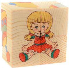Кубики Русские деревянные игрушки Игрушки Д482а 4 шт