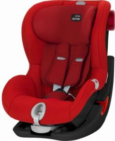 Автокресло Britax Romer King II LS Black Series (flame red trendline)