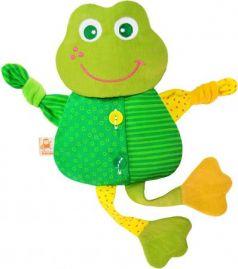 Мягкая игрушка-грелка лягушонок МЯКИШИ Доктор Мякиш 39 см зеленый текстиль 228