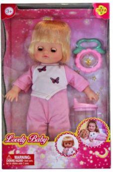 Кукла Defa Luсy Любимый малыш, 29 cм, в роз. костюме, с аксесс., кор. 5063/pink