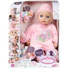 Кукла ZAPF Creation Baby Annabell 43 см с мимикой чмокающая смеющаяся