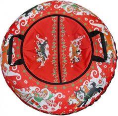 Тюбинг RT Эксклюзив ХАСКИ + автокамера, диаметр 100 см до 120 кг ПВХ разноцветный 6284