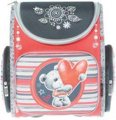 Ранец с уплотненной спинкой Silwerhof Bear 830742 красный