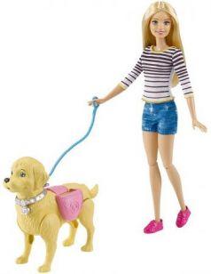 Кукла Mattel Barbie Прогулка с питомцем DWJ68