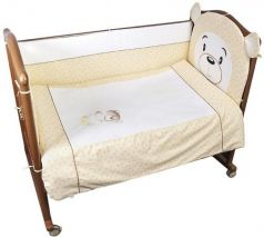 Комплект в кроватку 3 предмета Сонный Гномик Умка (бежевый)