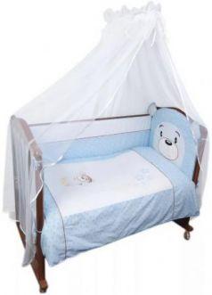 Комплект в кроватку 3 предмета Сонный Гномик Умка (голубой)