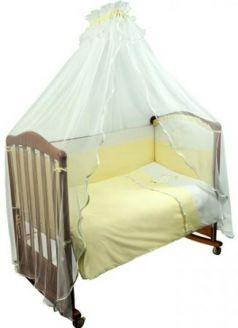 Комплект в кроватку 3 предмета Сонный Гномик Пушистик (салатовый)