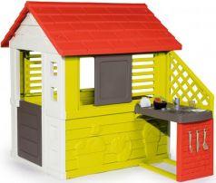 Домик игровой Smoby с кухней, красный 145*110*127см, 1/1  810702