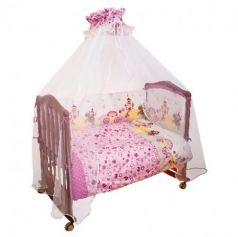 Бампер в кроватку Сонный Гномик Золушка (розовый)