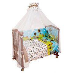 Комплект в кроватку 4 предмета Сонный Гномик Каникулы (голубой)