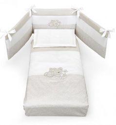 Комплект постельного белья 3 предмета Erbesi Birba (белый/песочный)
