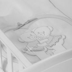 Набор в люльку для близнецов Feretti Baby Beddings Culla Gemell (bianco)