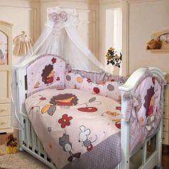 Комплект в кроватку Золотой Гусь Ёжик Топа-Топ (бежевый)