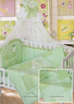 Комплект в кроватку Золотой Гусь Кошки-Мышки (зеленый)