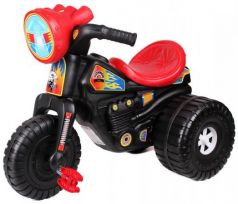 Каталка-машинка ТехноК Мотоцикл Гонки с педалями 4135 пластик от 3 лет на колесах черно-красный